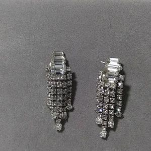 Vintage Rhinestone Earrings Dangle